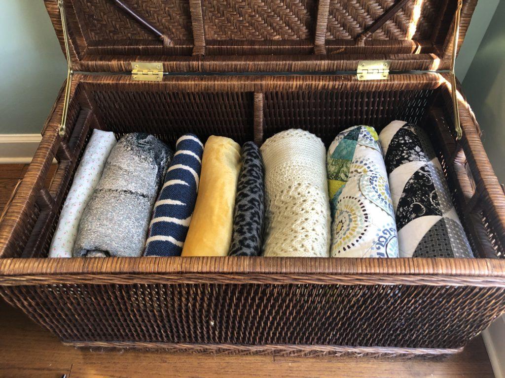 Organized Blanket Basket