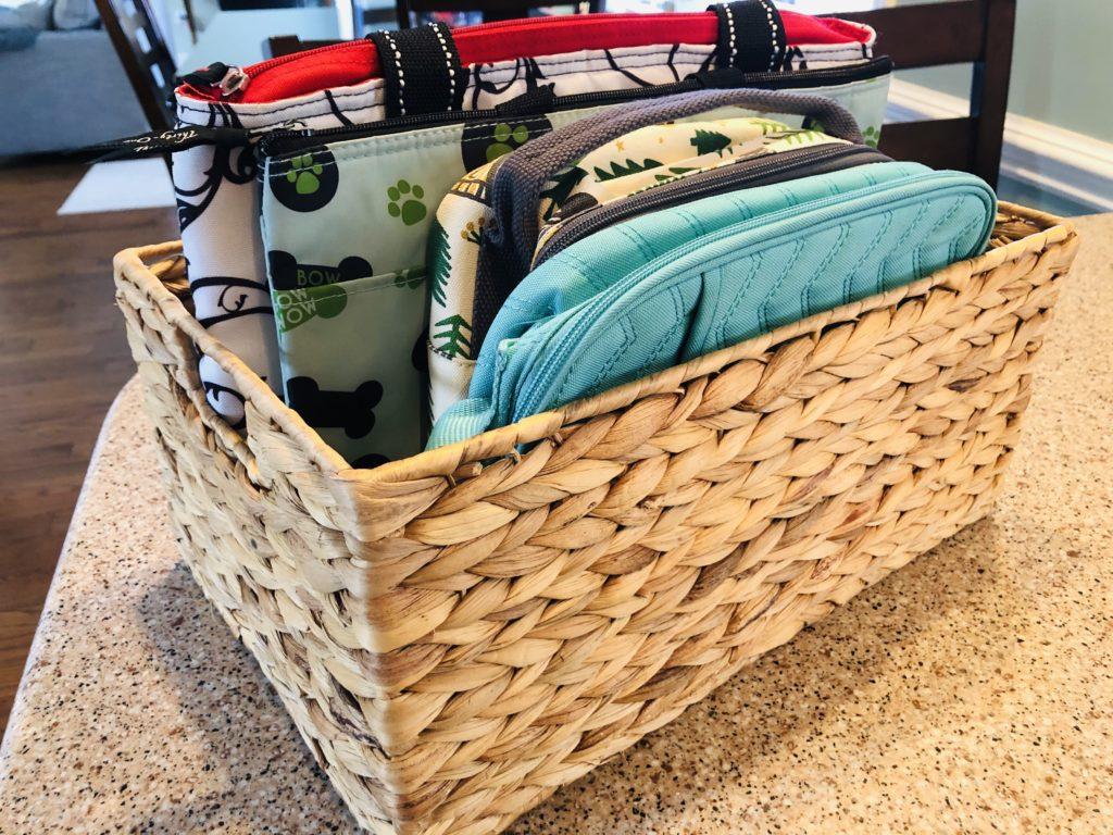 Organized Lunch Bag Basket