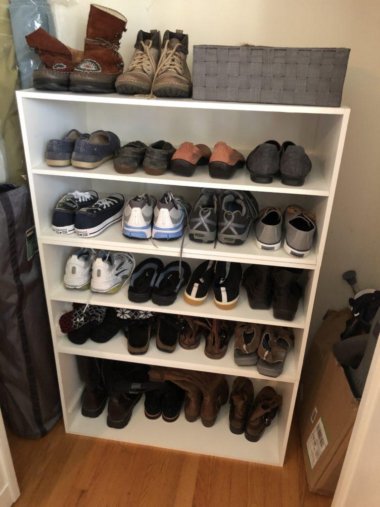 Organized Shoe Shelf