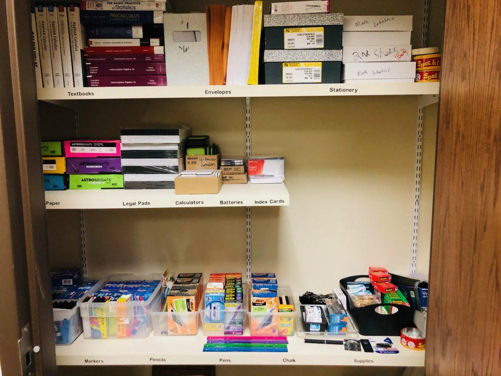Organized Office Closet
